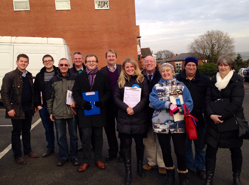 Some of our members out on the campaign trail